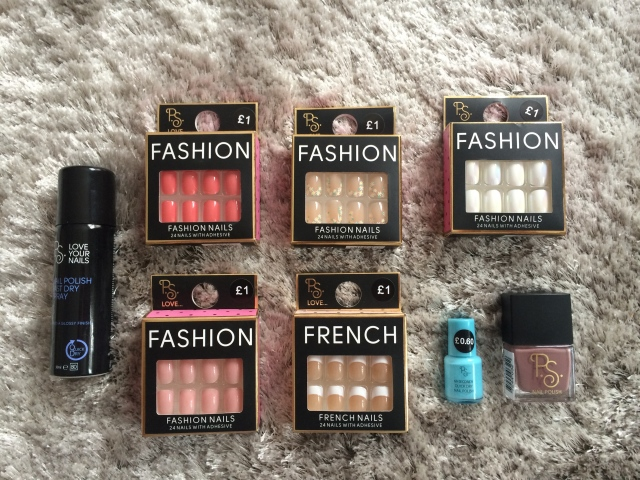 primark haul nails fake nails varnish quick dry
